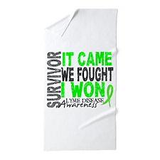 Lyme Disease Survivor 2 Beach Towel