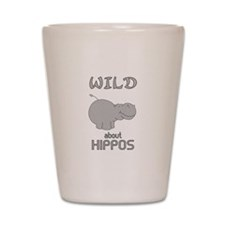 Wild About Hippos Shot Glass
