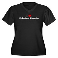 I Love Iceland Sheepdog Women's Plus Size V-Neck D