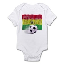 Soccer Flag Ghana Infant Bodysuit