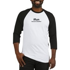 iRun because iLikeWine Baseball Jersey