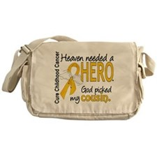 Childhood Cancer HeavenNeededHero1 Messenger Bag