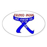 TKD Mom Kid Oval Decal