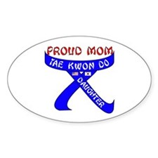 TKD Mom Daughter Oval Decal