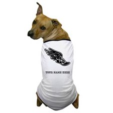 Custom Winged Running Shoe Dog T-Shirt