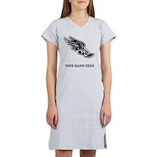 Custom Winged Running Shoe Women's Nightshirt