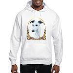 Whippet Christmas/Holiday Hooded Sweatshirt