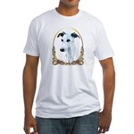 Whippet Christmas/Holiday Fitted T-Shirt