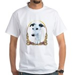Whippet Christmas/Holiday White T-Shirt