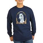 Whippet Christmas/Holiday Long Sleeve Dark T-Shirt