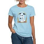 White Whippet Christmas Women's Light T-Shirt