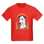 White Whippet Christmas/Holiday Kids Dark T-Shirt