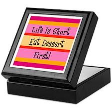 Eat Dessert First Keepsake Box