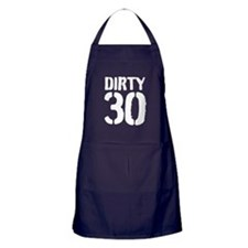 Dirty 30 Thirty Bbq Apron (dark) For Men And Women