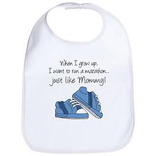 Run Marathon Just Like Mommy Bib