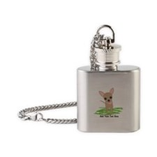 Cute Chihuahua Pink Flask Necklace