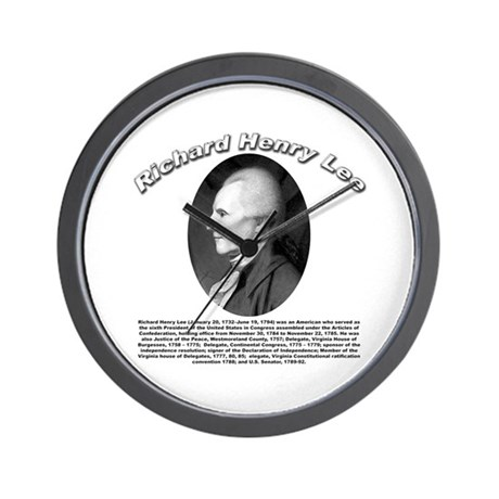 Richard Henry Lee 01 Wall Clock