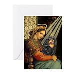 Madonna & Cavalier (BT) Greeting Cards (Pk of 10)
