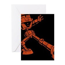 robot-truckin-CRD Greeting Cards