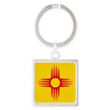Cute Albuquerque Square Keychain