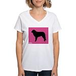 Mastin iPet Women's V-Neck T-Shirt