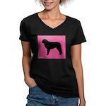 Mastin iPet Women's V-Neck Dark T-Shirt