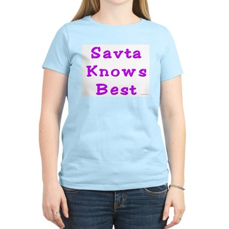 Savta Knows Best Women's Light T-Shirt