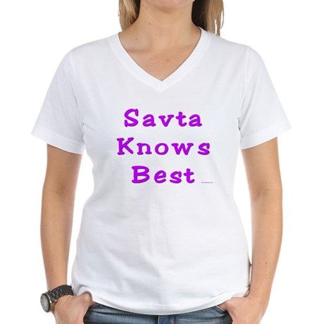 Savta Knows Best Women's V-Neck T-Shirt