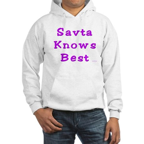 Savta Knows Best Hooded Sweatshirt