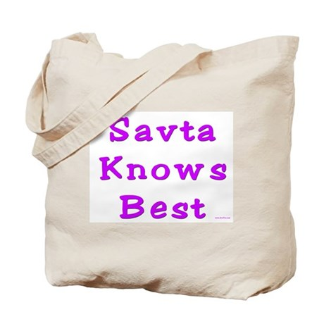 Savta Knows Best Tote Bag