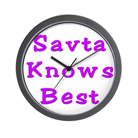 Savta Knows Best Wall Clock