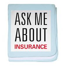 Ask Me Insurance baby blanket