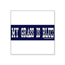 "Cute Bluegrass music Square Sticker 3"" x 3"""