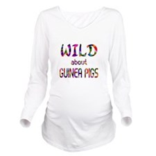 Wild About Guinea Pi Long Sleeve Maternity T-Shirt
