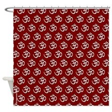 Om, Ohm, Yoga, GARNET Shower Curtain