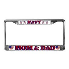 Navy Mom & Dad License Plate Frame