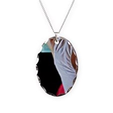 Alice in Wonderland Necklace Oval Charm