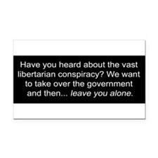 Cute Libertarian Rectangle Car Magnet