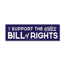 Bill of Rights Car Magnet 10 x 3