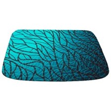 Teal Abstract Bathmat