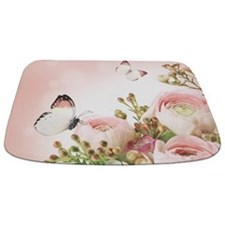 Flowers And Butterflies Bathmat