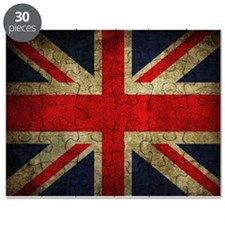 Vintage Grunge Union Jack UK Flag Puzzle