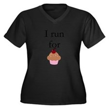 I Run For Cupcakes Plus Size T-Shirt