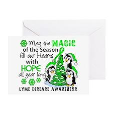 Lyme Disease Christmas Penguins 1 Greeting Card