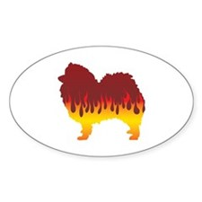 Spitz Flames Oval Decal
