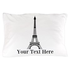 Personalizable Eiffel Tower Pillow Case