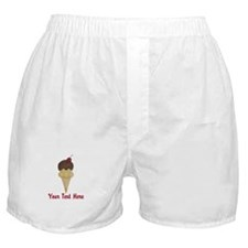 Personalizable Double Scoop Ice Cream Boxer Shorts