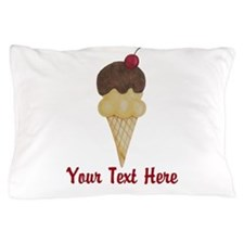 Personalizable Double Scoop Ice Cream Pillow Case