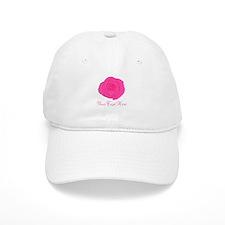 Pesonalizable Pink Rose Baseball Baseball Cap