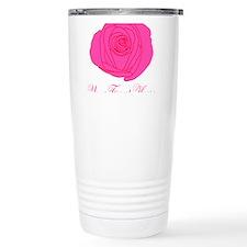 Pesonalizable Pink Rose Travel Mug